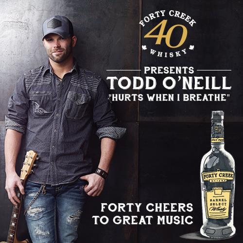 Todd O'Neill with Forty Creek Whisky